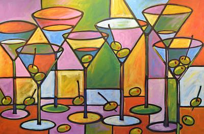 Original Abstract Martini Bar Restaurant Decor... Martini And Olives Original by Amy Giacomelli