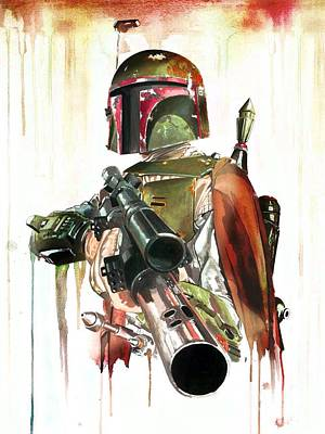 Boba Fett Digital Art - Original Bounty Hunter by Christina Perry