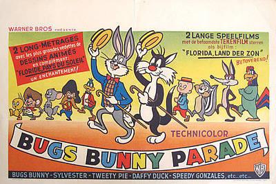 Original Bugs Bunny Parade Movie Poster Original by Walter Lantz