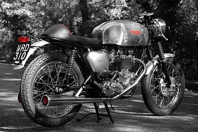 Cafes Photograph - Original Cafe Racer by Mark Rogan