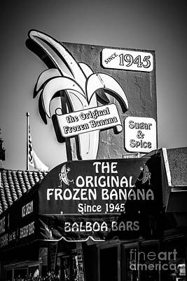 Original Frozen Banana Sign On Balboa Island Picture Print by Paul Velgos