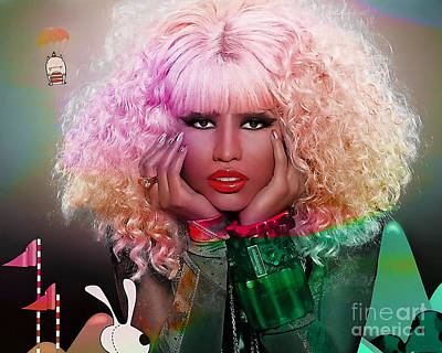 Young Money Mixed Media - Original Nicki Minaj  by Marvin Blaine