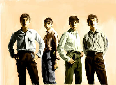 Gallery Drawing - Original Punk IIi  The Beatles  by Iconic Images Art Gallery David Pucciarelli