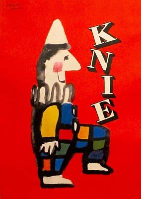 Original Swiss National Circus Poster Knie Original by Herbert Leupin