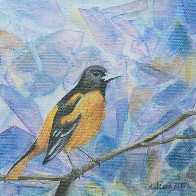 Oriole Painting - Oriole - Birds In The Wild by Arlissa Vaughn