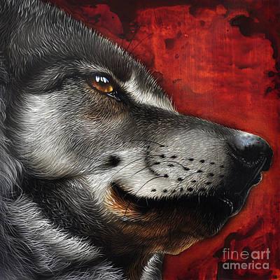 Animal Portraiture Painting - Orion Wolf by Jurek Zamoyski