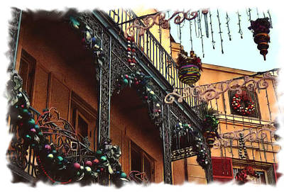 Decorated For Christmas Photograph - Orleans Square Christmas 2 by Nadalyn Larsen