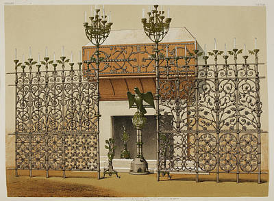 Ornamental Fireplace Print by British Library