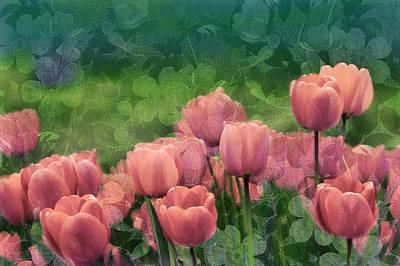 Tulips Mixed Media - Ornamental Garden by Georgiana Romanovna