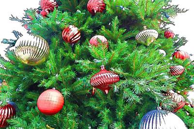Ornaments So Bright Print by Audreen Gieger-Hawkins