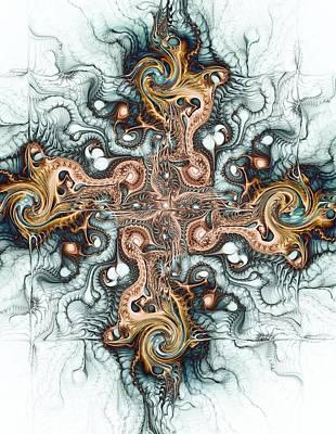 Sign Digital Art - Ornate Cross by Anastasiya Malakhova