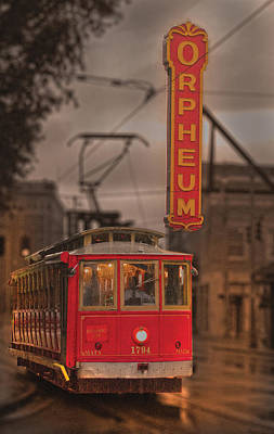 Streetcar Photograph - Orpheum Theater Memphis by Don Wolf