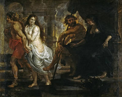 Orpheus Painting - Orpheus And Eurydice by Peter Paul Rubens and Workshop