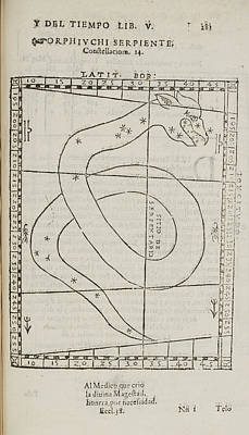 Que Photograph - Orphiuchi Serpiente Star Constellation by British Library