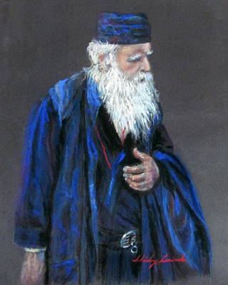 Orthodox Priest From Athens Greece Print by Shirley Leswick