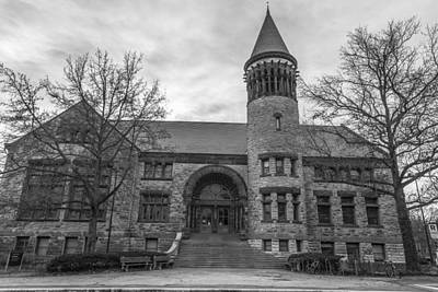 Orton Hall Osu Black And White  Print by John McGraw