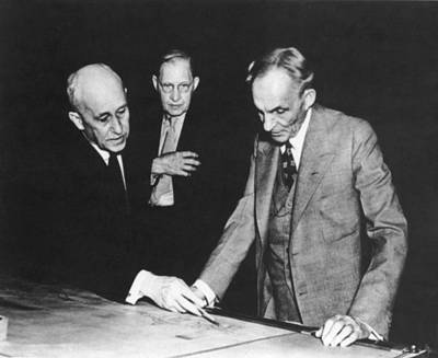 Orville Wright And Henry Ford Print by Underwood Archives