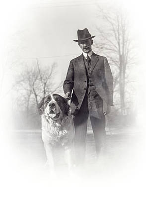 Orville Wright And Scipio - 1921 Print by Daniel Hagerman