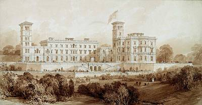 Victoria Painting - Osborne House, Isle Of Wight by Thomas Allom