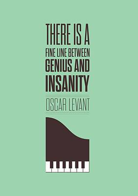 Oscar Levant Inspirational Typography Quotes Poster Print by Lab No 4 - The Quotography Department