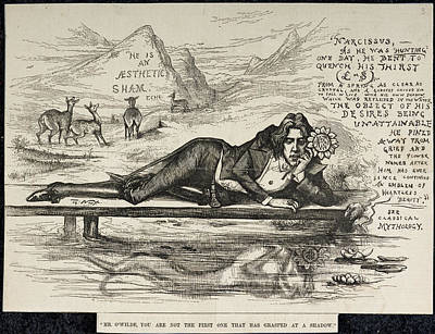 Oscar Wilde As Narcissus Print by British Library