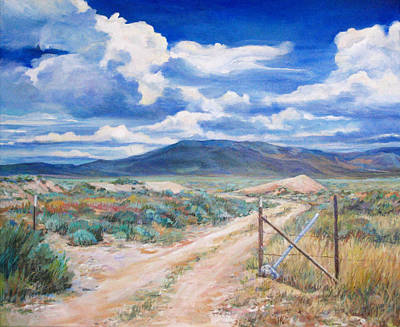 Sagebrush Painting - Osceola Nevada Ghost Town by Donna Tucker