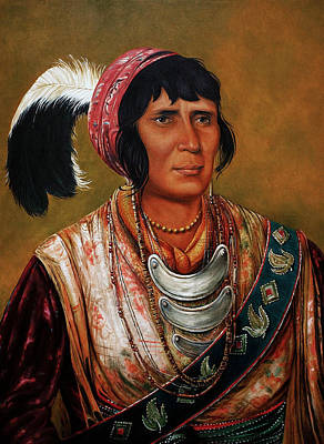 Osceola The Black Drink A Warrior Of Great Distinction By John Travisano After George Catlin Print by John Travisano