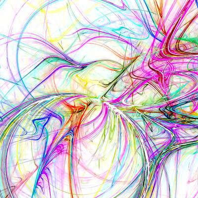 Hand Made Digital Art - Oscillation by Tom Druin