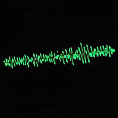 Oscilloscope Screen Print by Science Photo Library