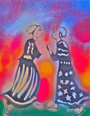 Yemaya Painting - Oshun And Yemaya by Tony B Conscious