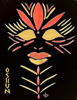 Oshun Painting - Oshun by Cleaster Cotton
