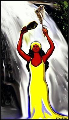 Oshun -goddess Of Love -4 Print by Carmen Cordova