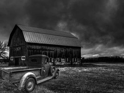 Old Trucks Photograph - Oslo Corners Farm by Thomas Young