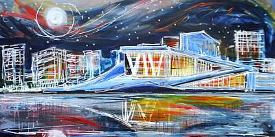 Oslo Opera House Print by Laura Hol Art