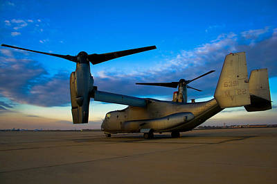 Military Photograph - Osprey Sunrise Series 1 Of 4 by Ricky Barnard