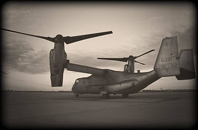 Airplane Photograph - Osprey Sunrise Series 4 Of 4 by Ricky Barnard