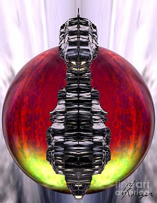 Other Worlds Digital Art - Otherworld - Fire by Christopher Krieger