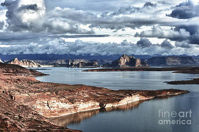 Otherworldly Morning At Lake Powell Print by Sandra Bronstein