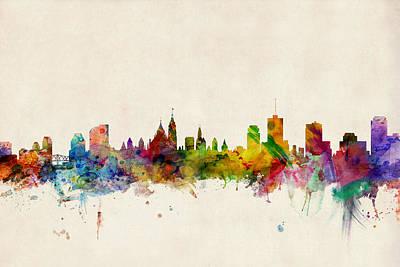 Canada Digital Art - Ottawa Skyline by Michael Tompsett