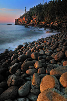 Otter Cliffs - Acadia National Park Print by Thomas Schoeller
