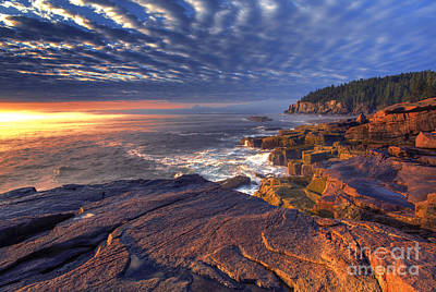 Otter Cove Sunrise Print by Marco Crupi