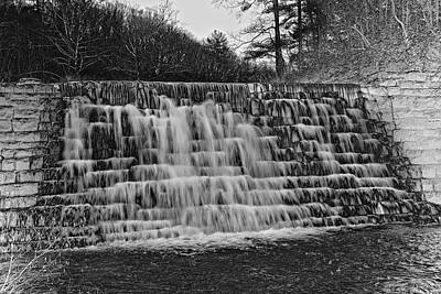 Otter Digital Art - Otter Lake Waterfall Blue Ridge Parkway by Betsy Knapp