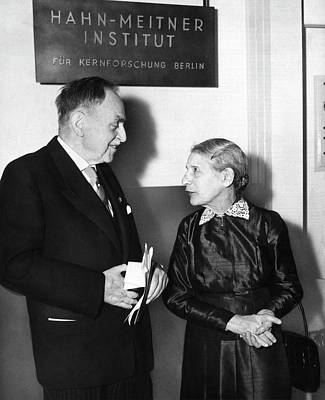 Fission Photograph - Otto Hahn And Lise Meitner by Emilio Segre Visual Archives/american Institute Of Physics