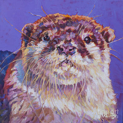 Otter Painting - Otto by Patricia A Griffin