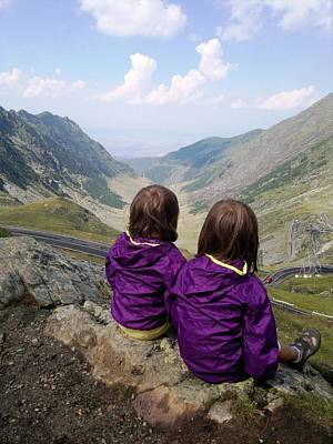 Our Daughters Admiring The View Print by Giuseppe Epifani
