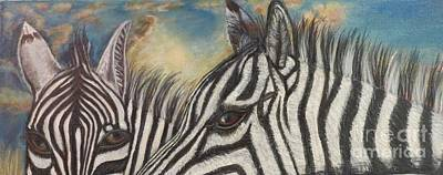 Zebra In Painting - Our Eyes Are The Windows To Our Souls by Kimberlee Baxter