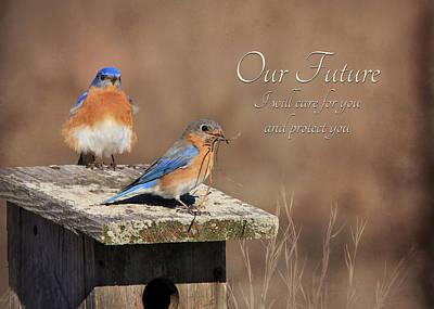 Bluebird Digital Art - Our Future by Lori Deiter