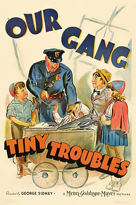 Signed Poster Drawing - Our Gang Vintage Movie Poster 1930s by Mountain Dreams
