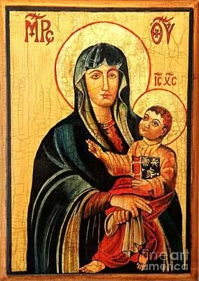 Our Lady Of Cieszyn Icon Original by Ryszard Sleczka