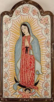 Our Lady Of Guadalupe Print by Ellen Chavez de Leitner